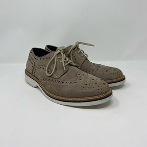 14th & Union Gray Suede Lace Up Oxfords Mens 7